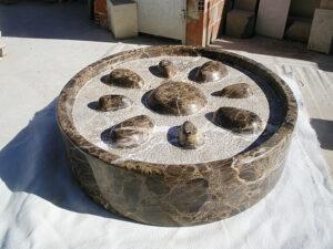 círculo y ovoides de mármol