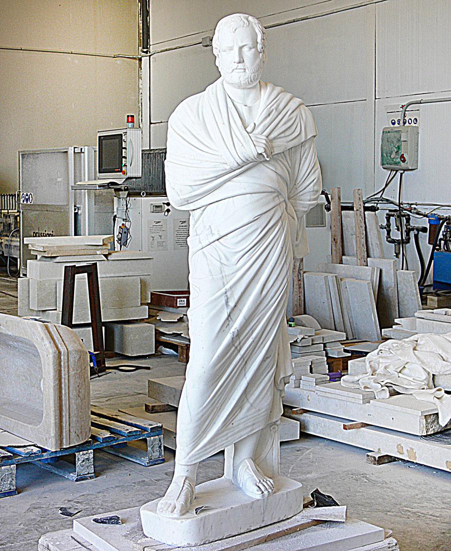 escultura en piedra. Mármol de Carrara