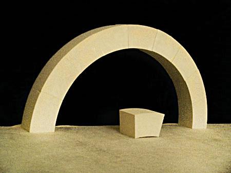arco de medio punto en piedra biocalcarenita