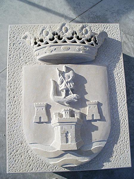 escudos heráldicos para escudo municipal en piedra