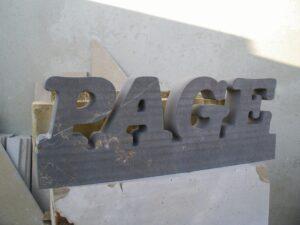 letrero en piedra de Calatorao
