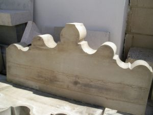 estos trabajos de cantería vinieron marcados por la geometría de las piezas antiguas