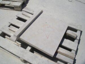 recortes en los vierteaguas de piedra