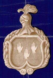 modelo en papel para escudo de piedra bateig