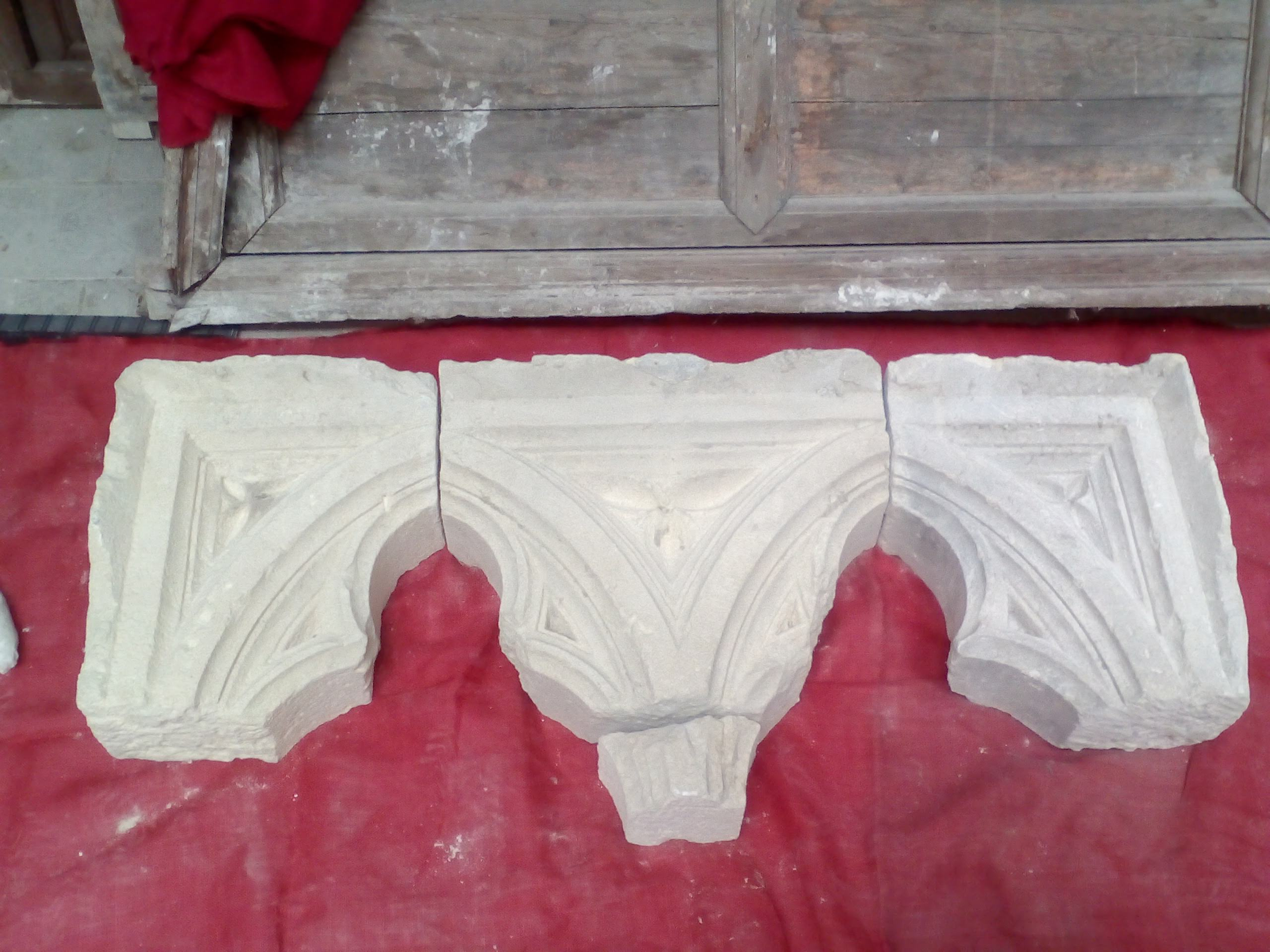 restauración de piedra antigua