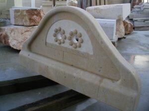 frontal de pila de cocina de piedra