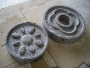piedras para decoración en proceso