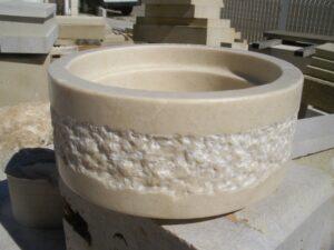 base lampara de marmol crema marfil